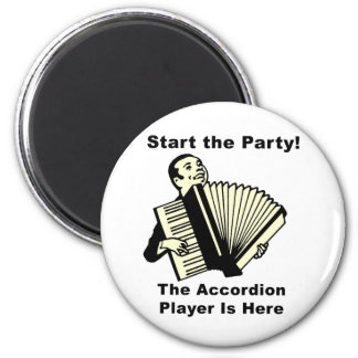 Start the Party! 6 Cm Round Magnet