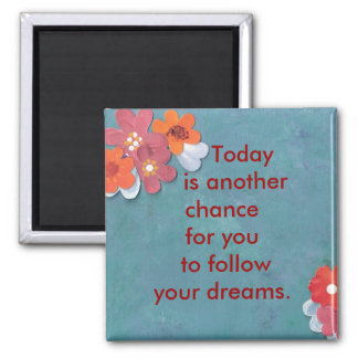 Start Today Square Magnet