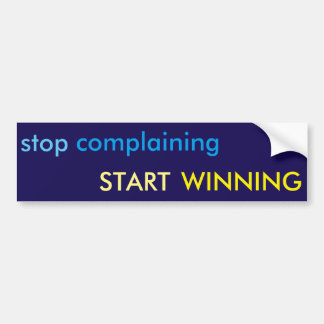 """Start Winning"" Bumper Sticker"