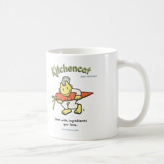 """start with ingredients you love"" mug"