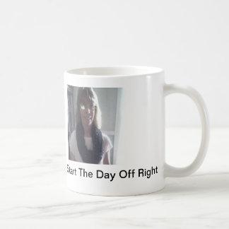 Start your Day Right Basic White Mug