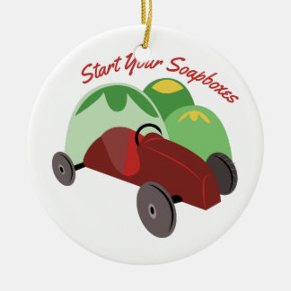 Start Your Soapboxes Christmas Ornament