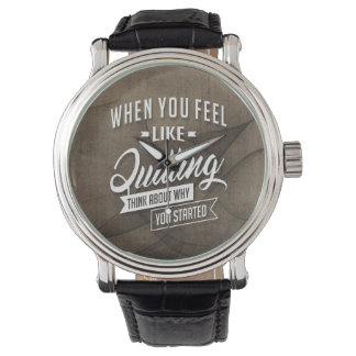 Started - Inspiration Quote. Wristwatch