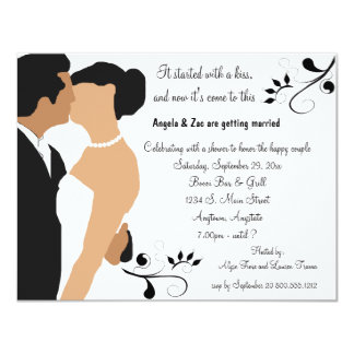 Started With A Kiss Ethnic Bridal Shower Invite