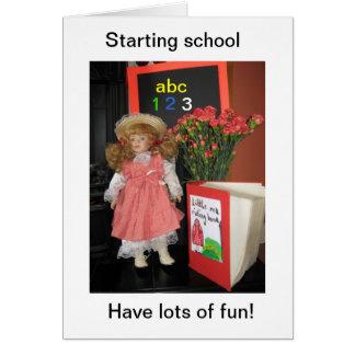 starting school cards