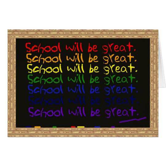 Starting School Card