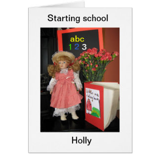 starting school holly card