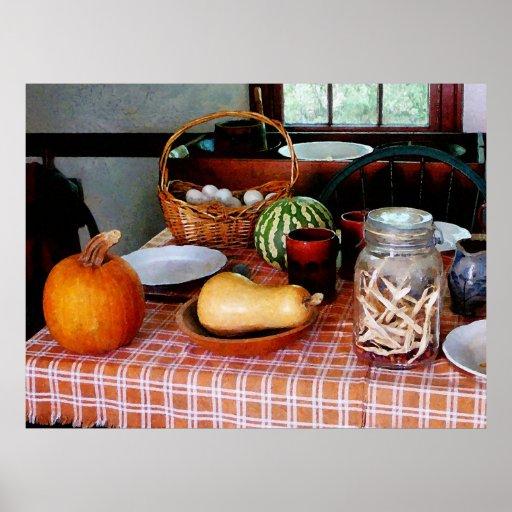 STARTING UNDER $20 Baking a Squash and Pumpkin Pie Poster