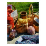 STARTING UNDER $20 -Baskets of Yarn at Flea Market