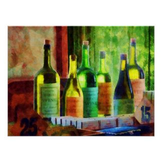STARTING UNDER $20 - Bottles of Wine Near Window Poster