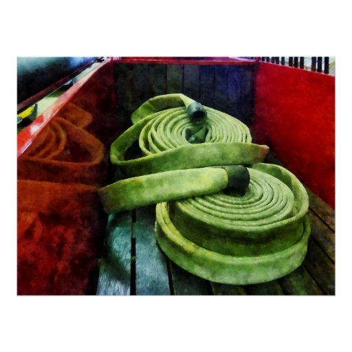 STARTING UNDER $20 - Coiled Fire Hoses Print