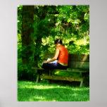 STARTING UNDER $20 - Girl Reading in Park Poster