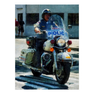 STARTING UNDER $20 - Motorcycle Cop Poster