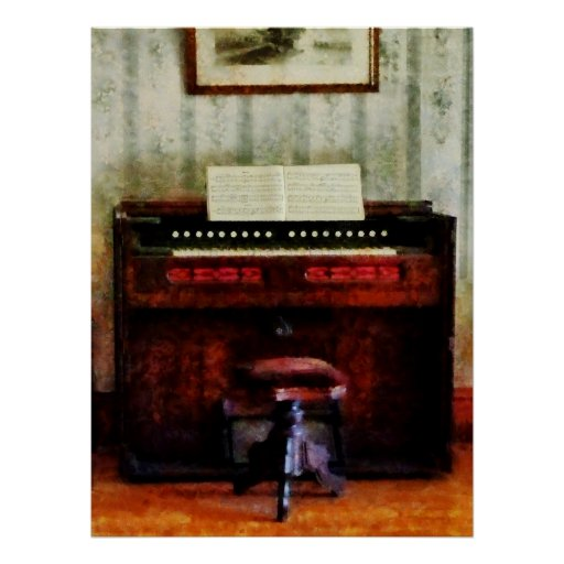 STARTING UNDER $20 - Organ and Swivel Stool Poster