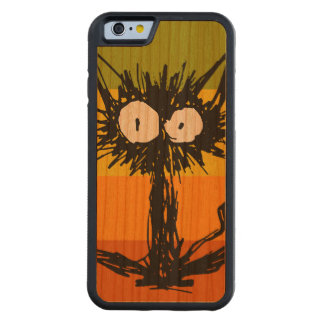 Startle Cat Orange Colorful Carved Cherry iPhone 6 Bumper Case