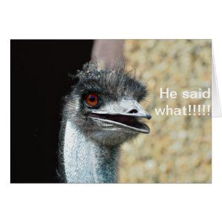startled Emu Card