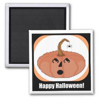 Startled Pumpkin Happy Halloween Magnet