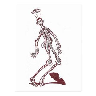 Startled Skinny Man Postcard