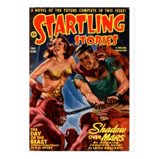 Startling Stories Fall Issue Postcard