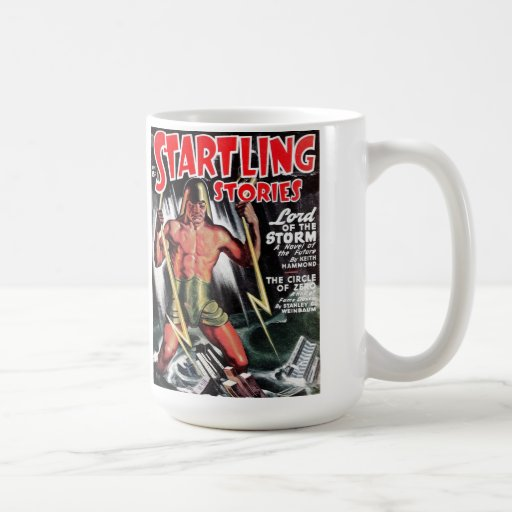 """""""Startling Stories"""" - """"Lord of the Storm"""" Coffee M Coffee Mugs"""