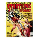 Startling Stories - The Isotope Men Postcard