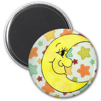 starts and the moon 6 cm round magnet