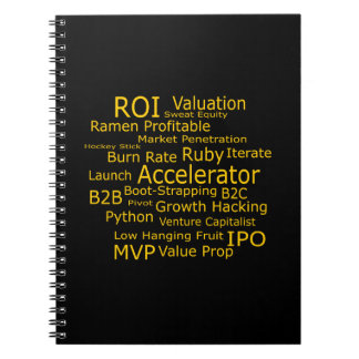 Startup Business Jargon Cloud Notebooks
