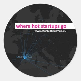Startup Heatmap Europe: Barcelona Classic Round Sticker