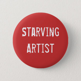 Starving Artist Art Gear 6 Cm Round Badge