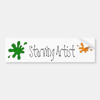 starving artist bumper sticker