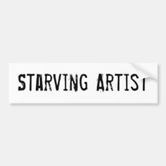 Starving Artist Funny Art Bumper Sticker