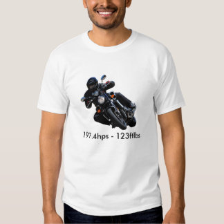 starVmax.bike.1, 197.4hps - 123ftlbs Tshirts