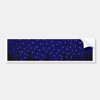 Stary Night Cityscape Bumper Sticker