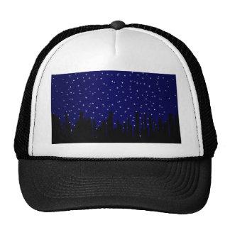 Stary Night Cityscape Cap