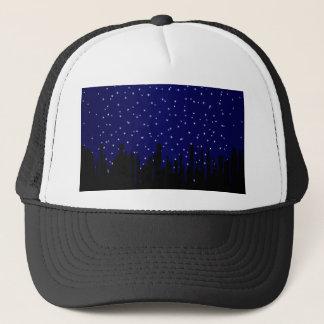 Stary Night Cityscape Trucker Hat