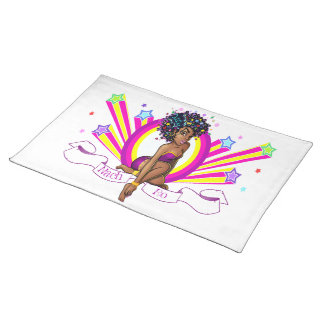 """Starz"" Fabric Place Mats Cloth Placemat"