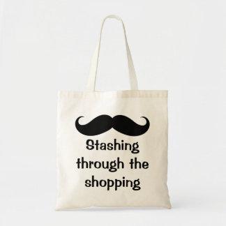 Stashing Through The Shopping Mustache Bags