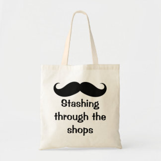Stashing Through The Shops Mustache Bags