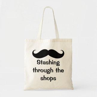 Stashing Through The Shops Mustache Bags