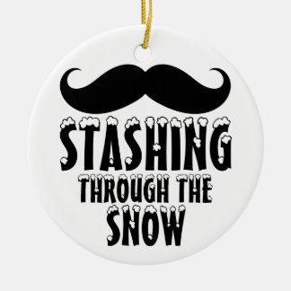 Stashing Through the Snow Christmas Tree Ornaments