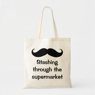 Stashing Through The Supermarket Mustache Bags