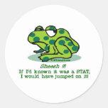 STAT Froggie Round Stickers
