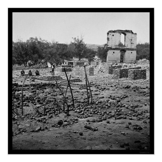 State Arsenal Ruins Richmond 1865 Poster