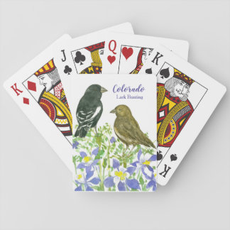 State Bird of Colorado Lark Bunting Watercolor Playing Cards