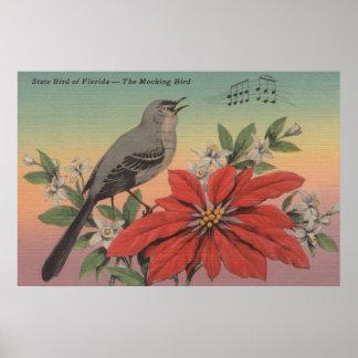 State Bird of FloridaMocking BirdFlorida Poster