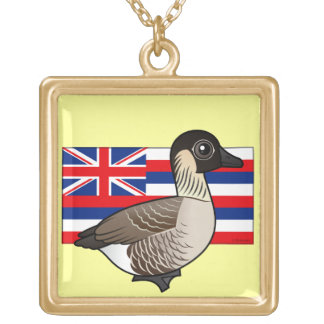 State Birdorable of Hawaii: Nene Gold Plated Necklace