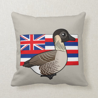 State Birdorable of Hawaii: Nene Throw Pillow