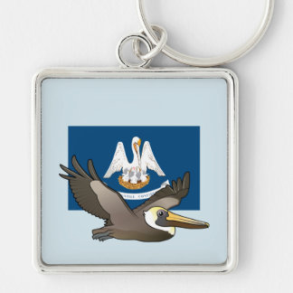 State Birdorable of Louisiana: Brown Pelican Key Ring