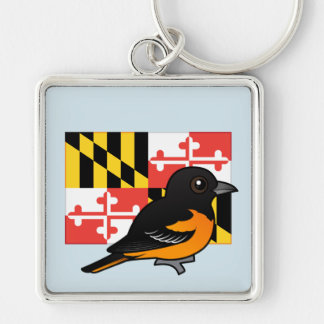 State Birdorable of Maryland: Baltimore Oriole Key Ring