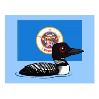 State Birdorable of Minnesota: Common Loon Post Card